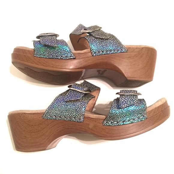 aad91e7e2a Dansko Shoes - Dansko Sophie iridescent leather sandal